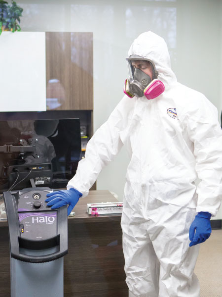 DRC is the only company in Southeast Michigan to offer the HALO fogging system